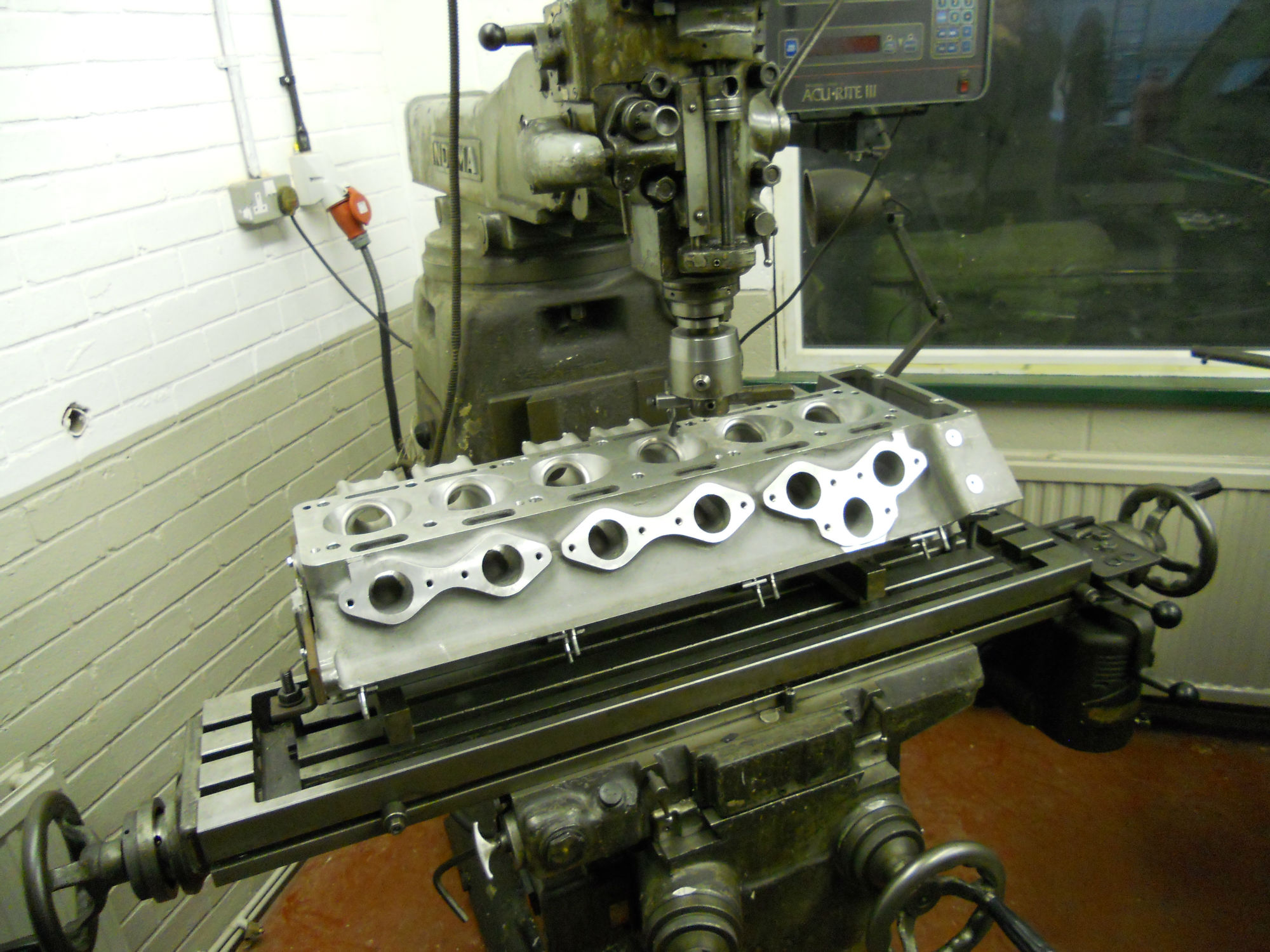 Cylinder head being worked on in our Machine shop