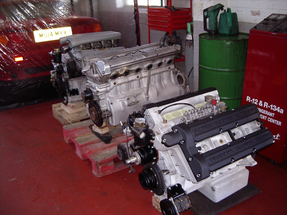 Fully rebuilt and dyno tested engines awaiting fitment back into vehicles