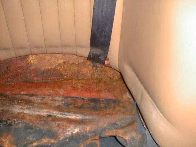 Underneath rear seats can look like this if not looked after properly